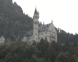 Neuschwanstein dal basso
