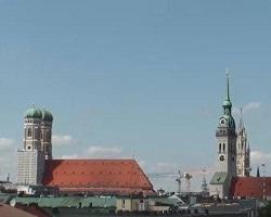 Vista dall'Hotel Deutsche Eiche