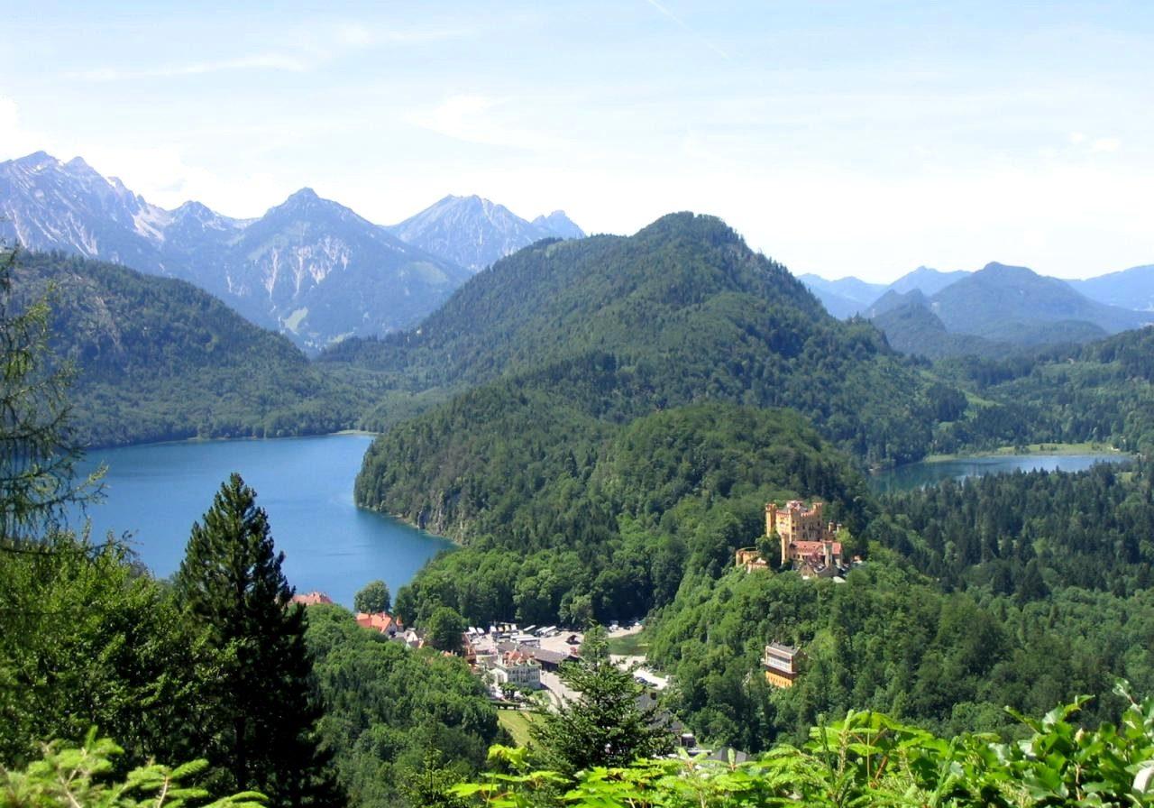 Hohenschwangau visto da Neuschwanstein