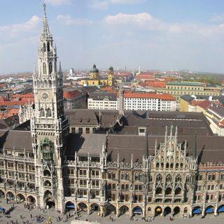 Panoramica del Neue Rathaus